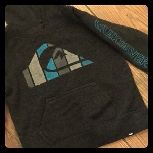 Quicksilver 18month charcoal gray hoodie